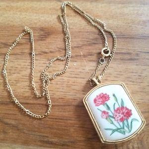 ☆VINTAGE☆ 1980's Avon Floral Necklace
